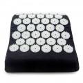 Массажная акупунктурная подушка (анатомическая) EcoRelax, черный - 2