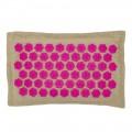 Массажная акупунктурная подушка (квадратная) EcoRelax, розовый - 4