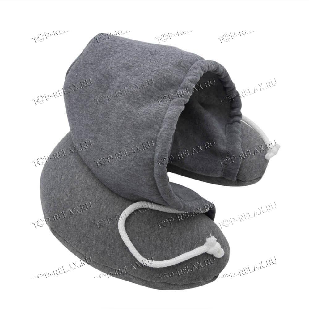 Подушка-воротник для путешествий с капюшоном - 2