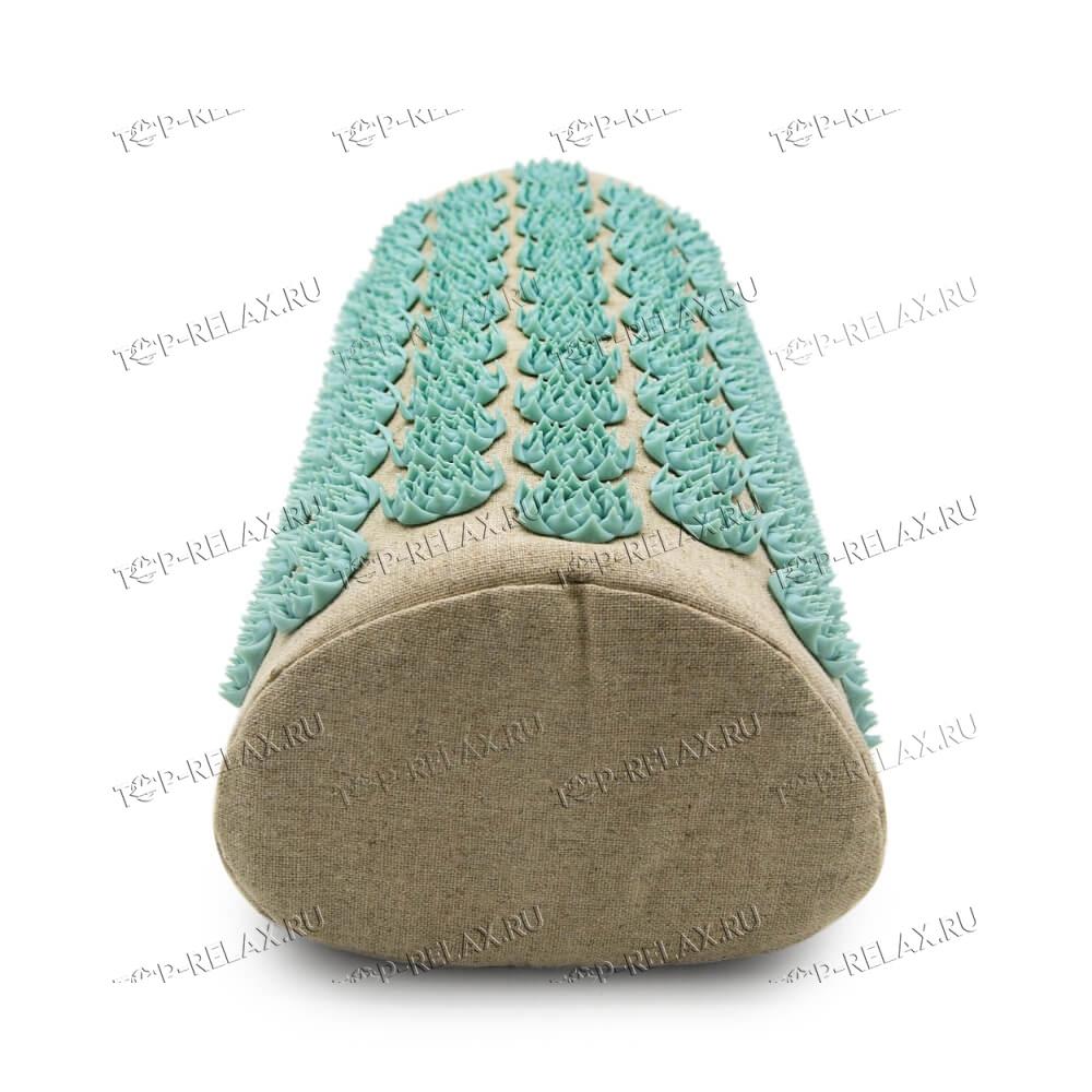 Массажная акупунктурная подушка (валик) EcoRelax, белый - 4