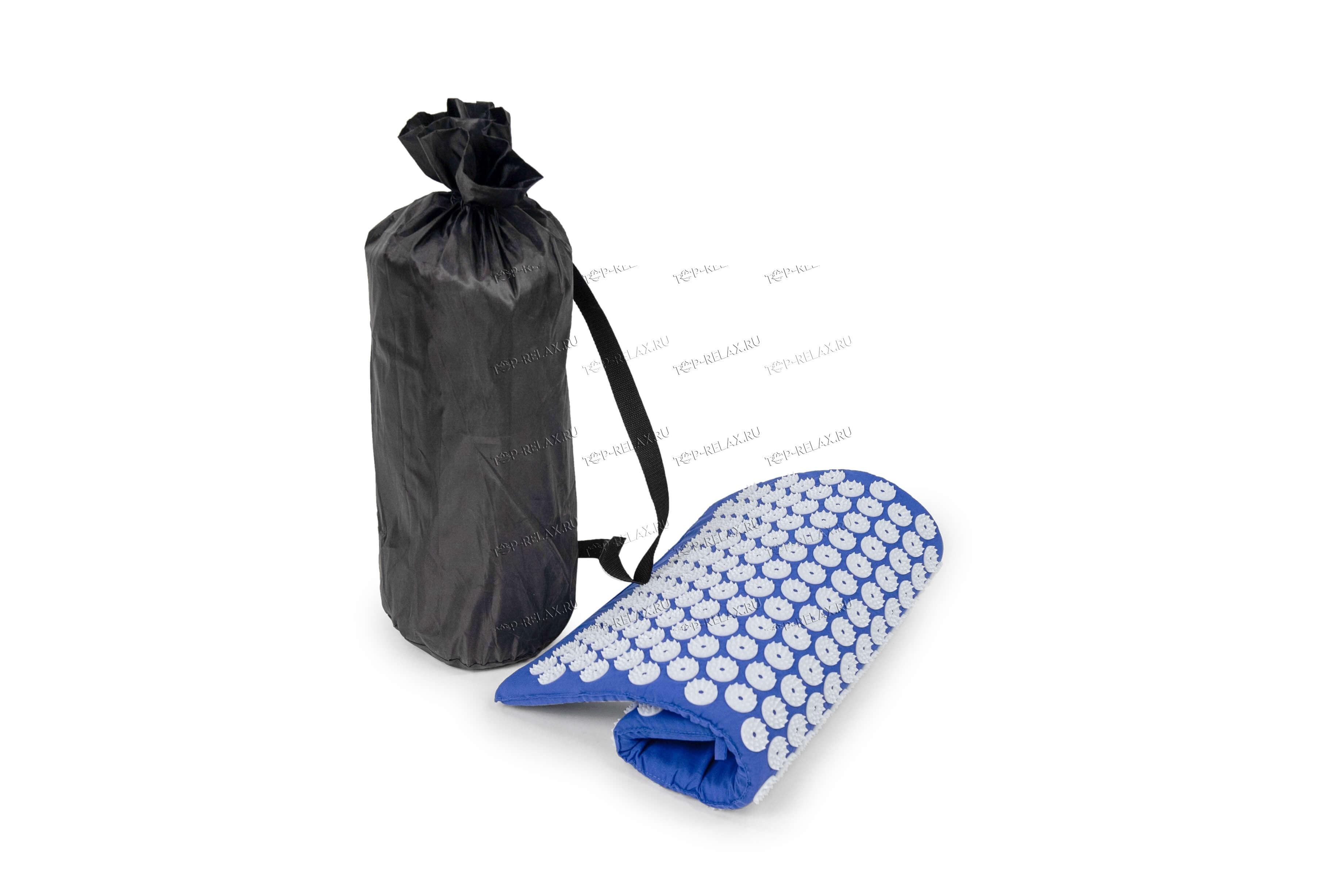 Массажный акупунктурный коврик EcoRelax, синий - 5