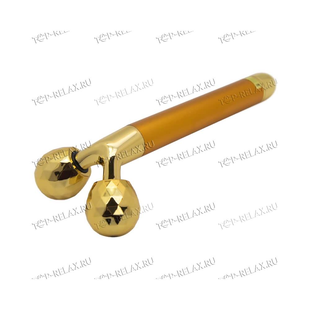 Набор вибрационных массажёров для лица и тела с золотым покрытием 3 в 1 Energy Beauty Bar - 2