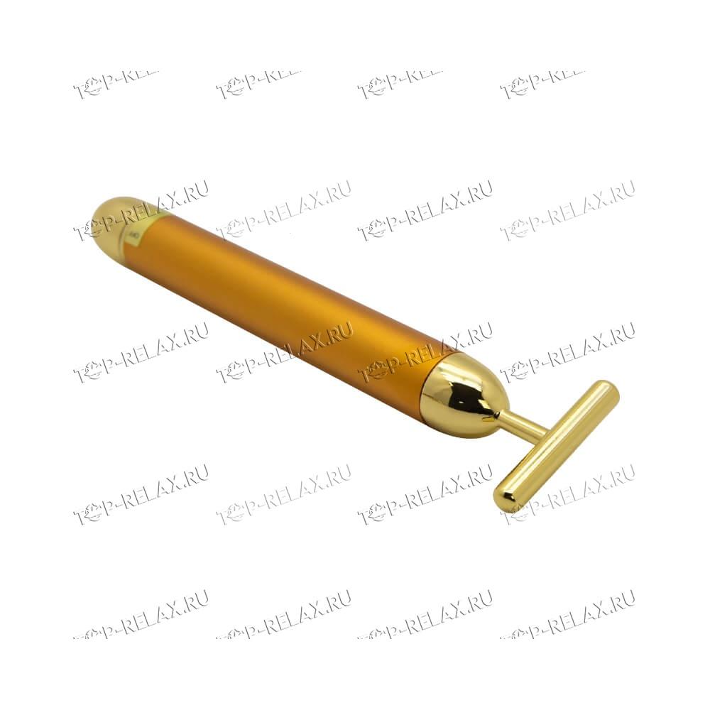 Набор вибрационных массажёров для лица и тела с золотым покрытием 3 в 1 Energy Beauty Bar - 3