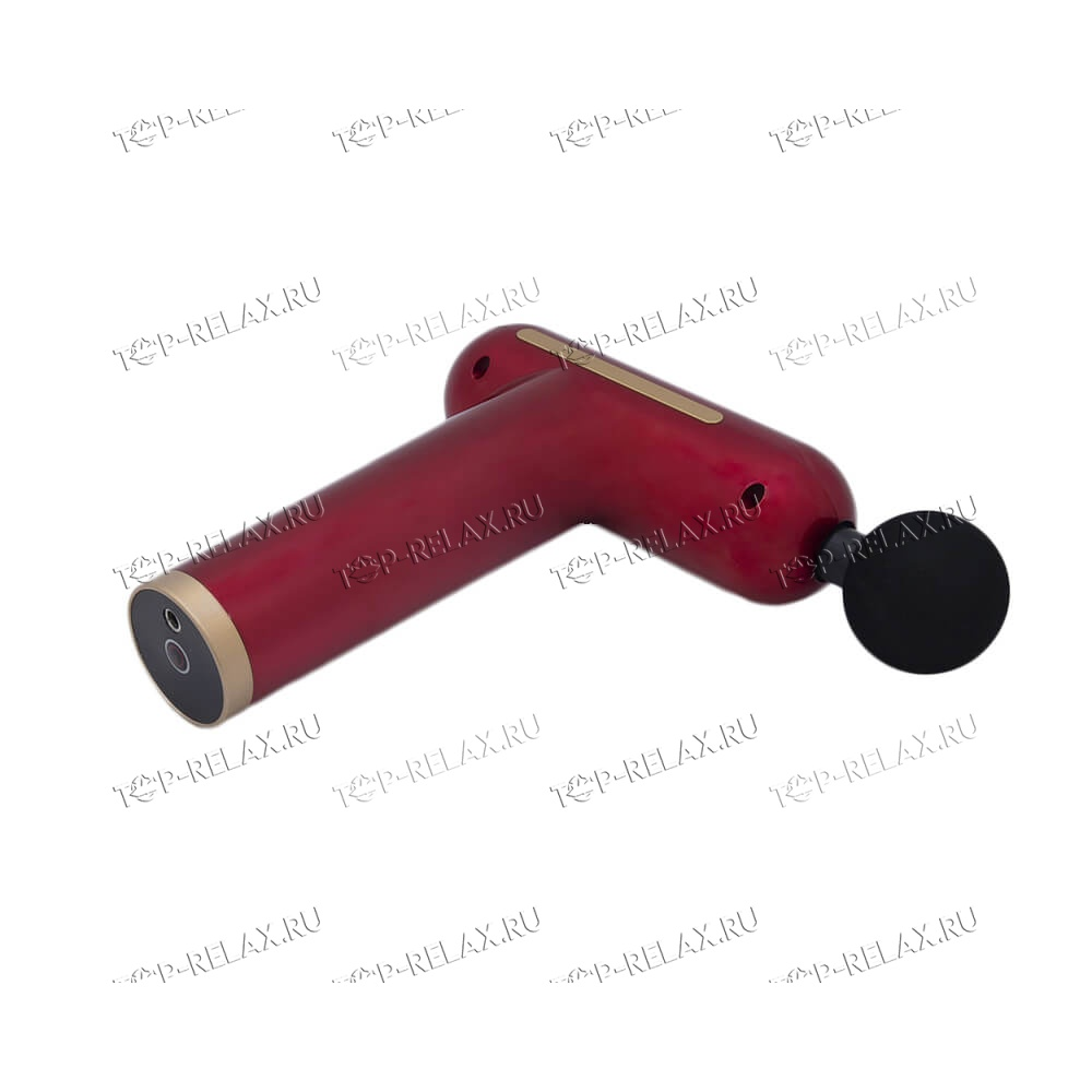 Перкуссионный массажер TY-606 4 насадки, красный - 3